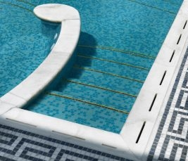 bisazza glass mosaics borders pool