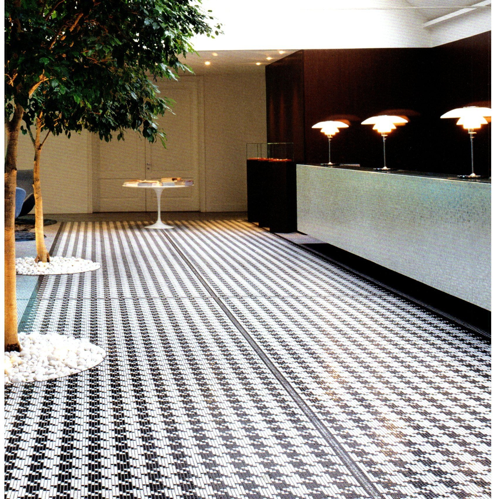bisazza mosaic floor design