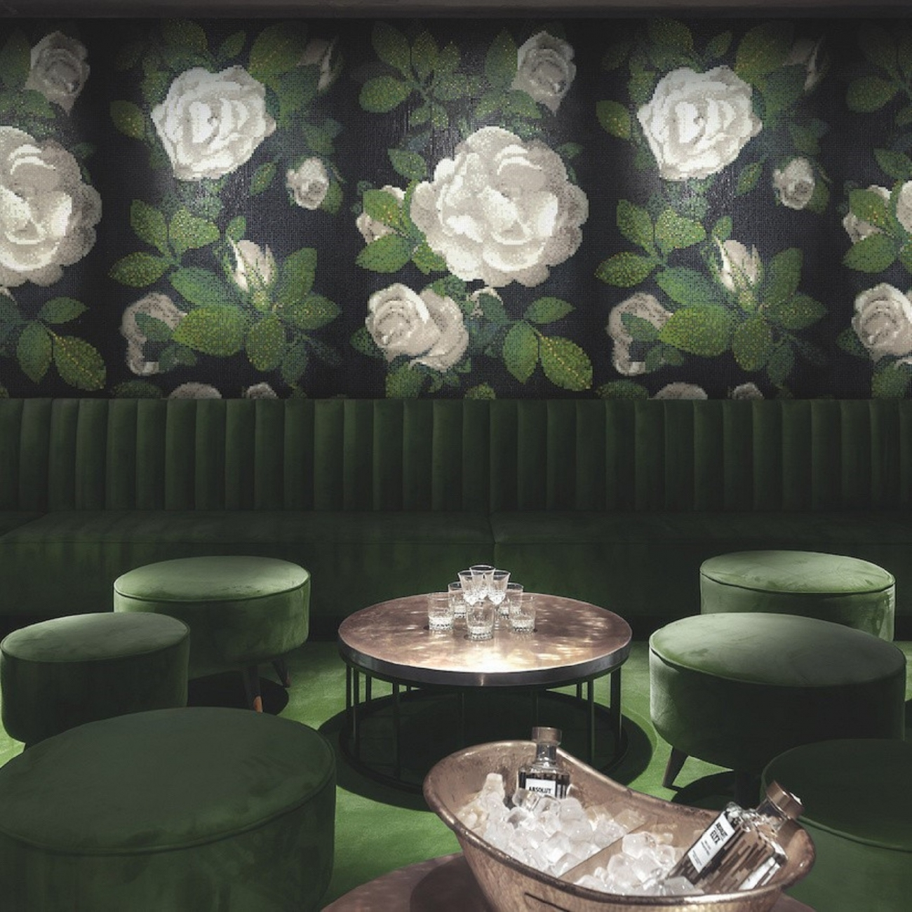 bisazza fora decorations spring rose Grigio