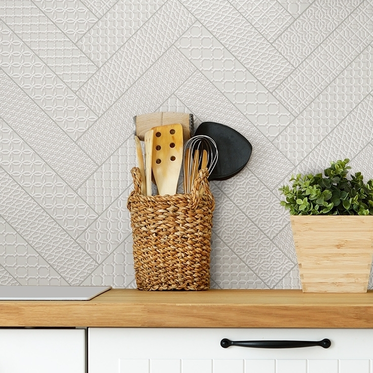 caravelle subway pressed metal look tiles
