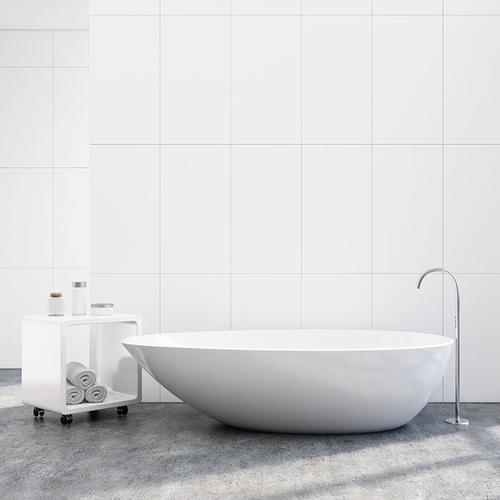 White Wall Tiles Image