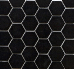 Hexagonal Black Matt Image