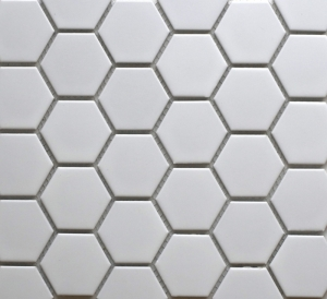 Hexagonal White Matt Image