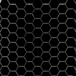 Hexagonal Black Gloss Image