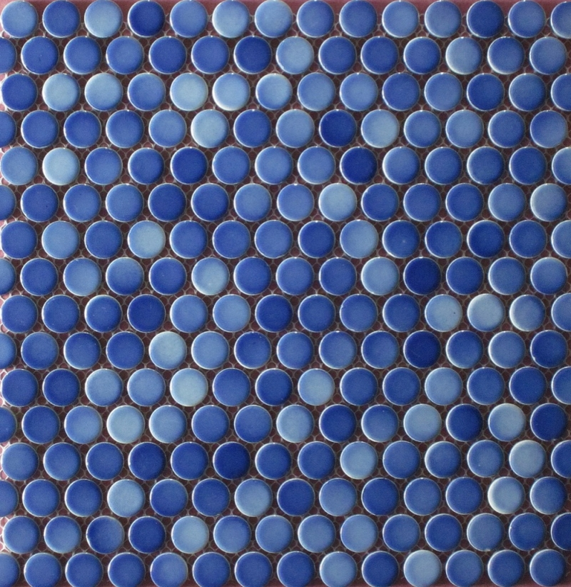 Penny Round Gloss Blue blend Image