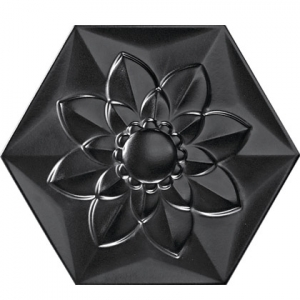 Bisazza Black Frozen Garden Flower Image