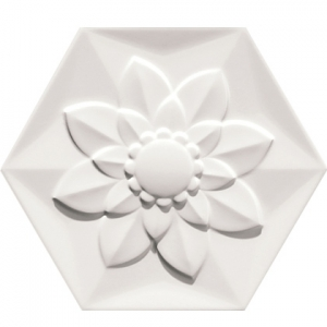 Bisazza White Frozen Garden Flower Image