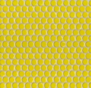 Penny Round Yellow Gloss Image