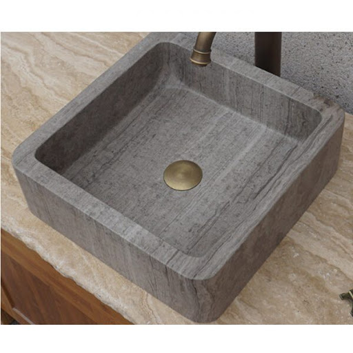 silver & crema travertine slider image